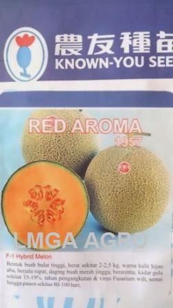Melon, Daging, Orange, Merah, Red, Red Aroma, Known You Seed, KYS, Tahan Virus, Kuning, Keriting, Puret