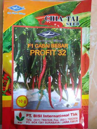 jual benih f1 profit 32, cabe besar, cabai, benih cap kapal terbang, toko pertanian online, lmga agro