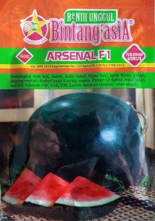 semangka arsenal f1, jual benih semangka, semangka non biji, toko pertanian online, lmga agro