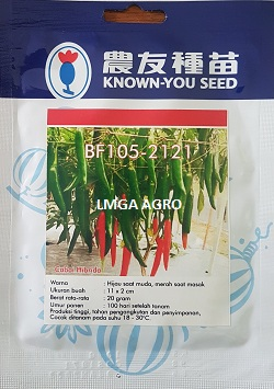 Cabe BF 105 - 2121, Cabe BF 105 F1, Cabe Merah BF 105, Cabai BF 105 - 2121, Benih Cabe BF 105 - 2121, Cabe Merah BF 105 - 2121, Tanam Cabe BF 105 - 2121, Cara Menanam Cabe BF 105 - 2121, Cabe Anti Virus BF 105 - 2121, Jual Cabe BF 105 - 2121 Murah, Jual Benih Cabe BF 105 - 2121 Promo, Cabe BF 105 - 2121 Terbaru, Lmga Agro, Known You Seed, Known You Seed Taiwan, KYS
